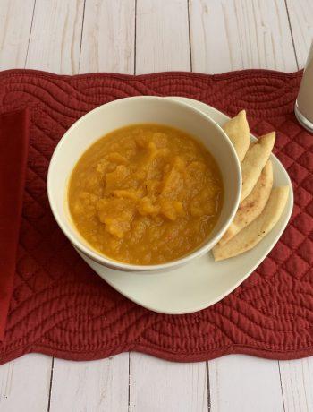 Butternut Squash Soup served