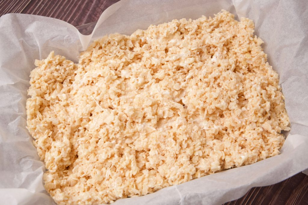 not your mamas Rice Krispies in the parchment paper