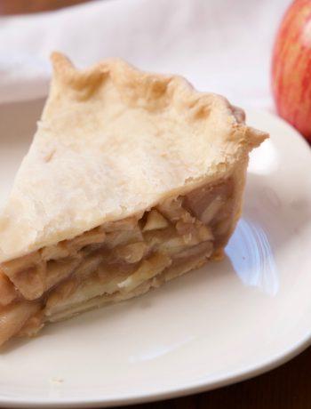 freezer apple pie filling baked in a pie
