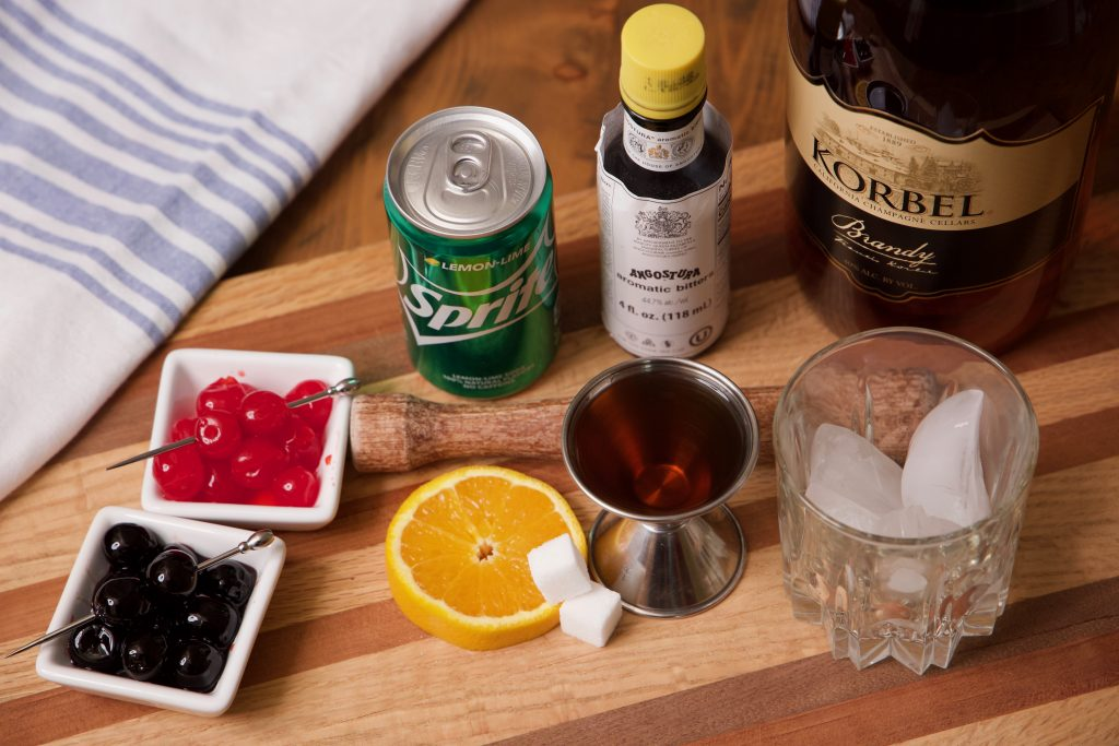ingredients for Wisconsin old fashioned