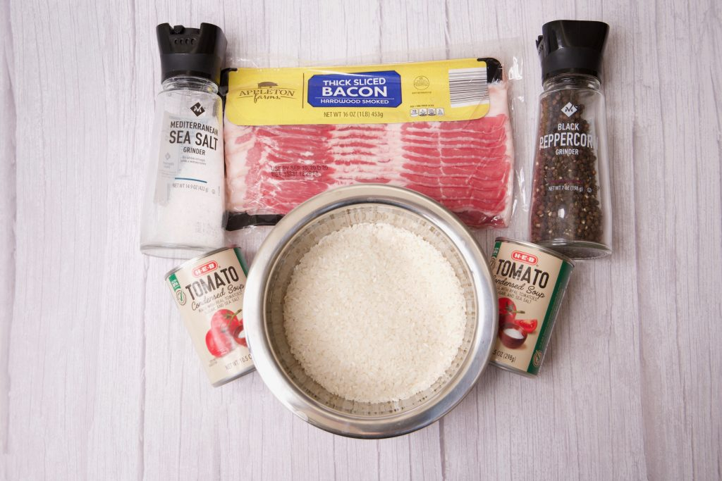 ingredients for red rice casserole