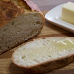 no knead bread with butter ready to eat