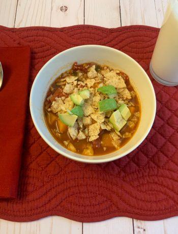 instant pot sweet potato tortilla soup ready to eat