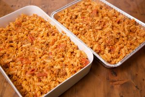 pizza casserole one to eat and one to freeze or share