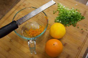 grating the orange