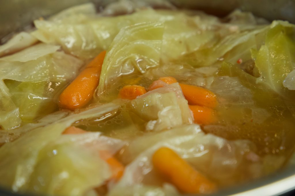 carrots and cabbage cooked