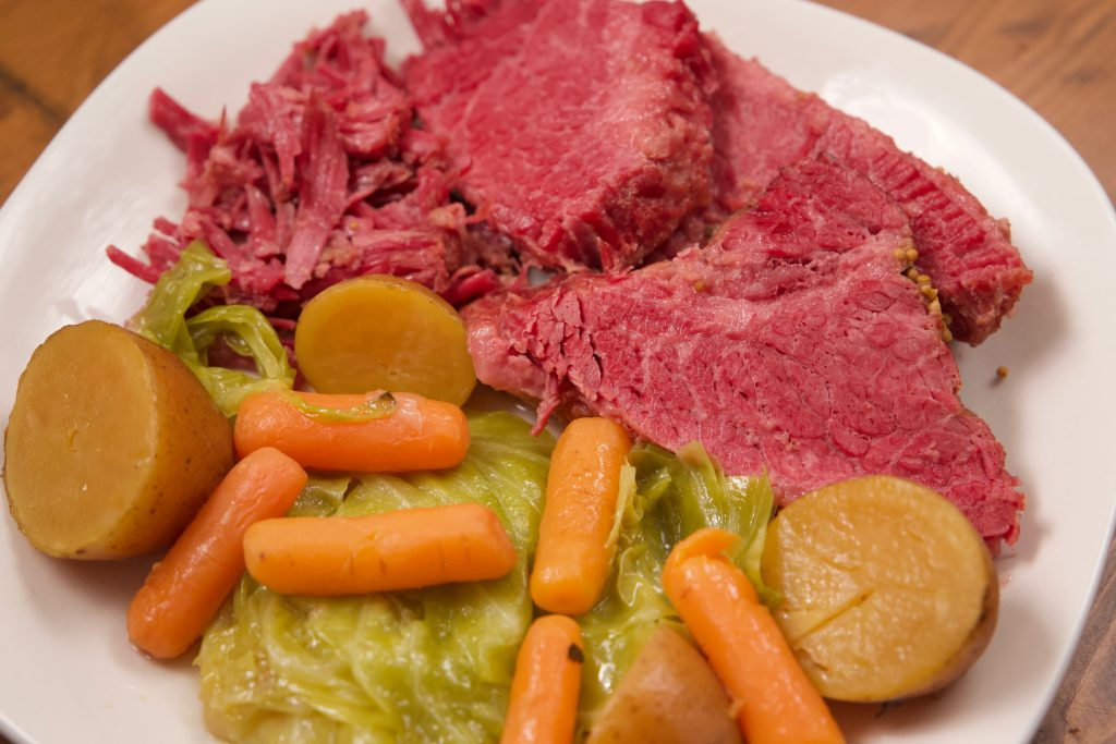 Corned Beef and Cabbage with potatoes