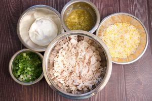 ingredients all ready to make enchiladas