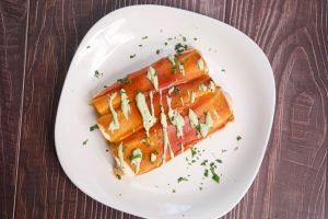 White Chicken Enchiladas with Tomatillo Sauce