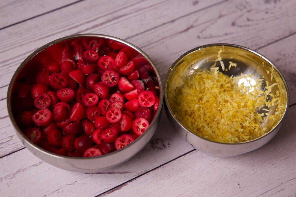 cranberry and lemon