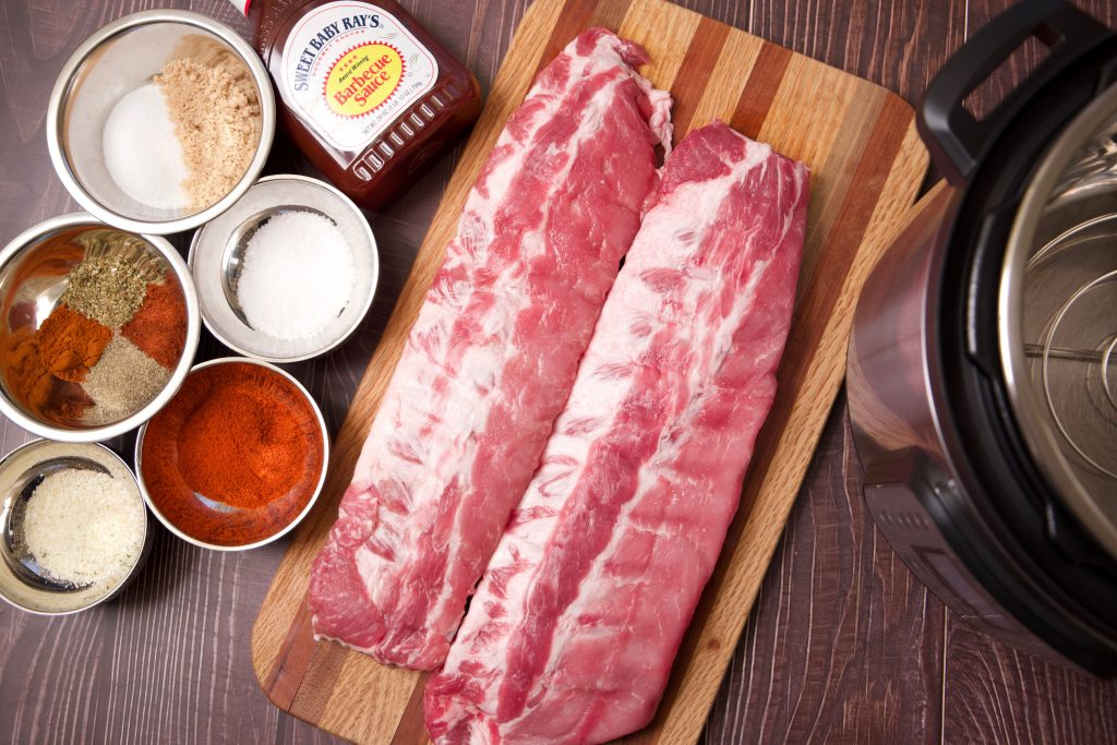 ingredients for instant pot ribs