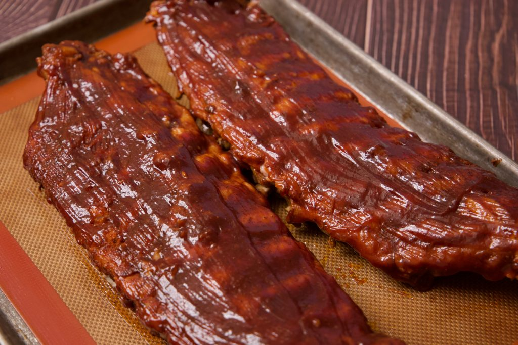 ribs ready for the broiler
