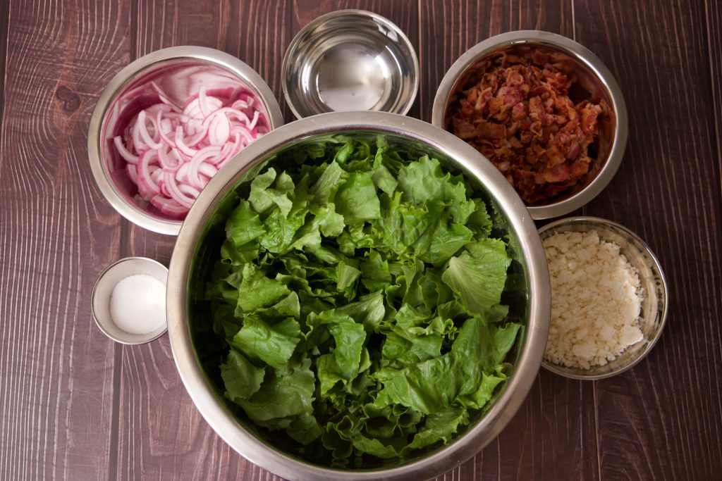 ingredients for wilted lettuce