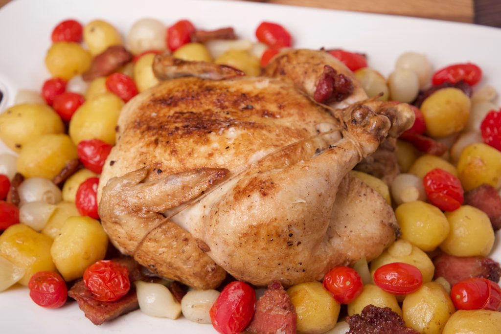 roasted chicken ready to eat