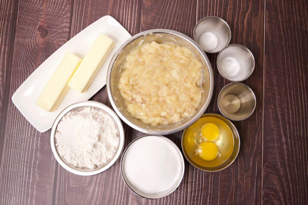 ingredients for air fryer banana bread