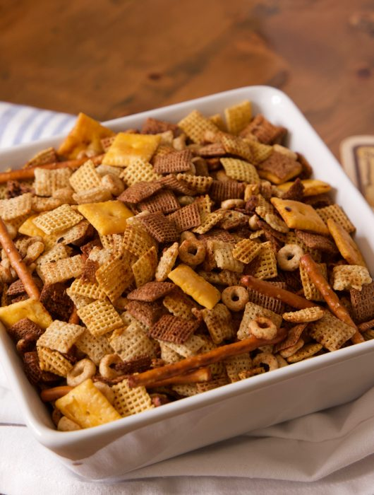 spicy Chex mix ready to eat