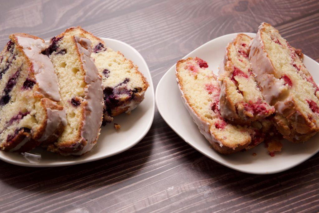 blueberry and raspberry lemon pound cake