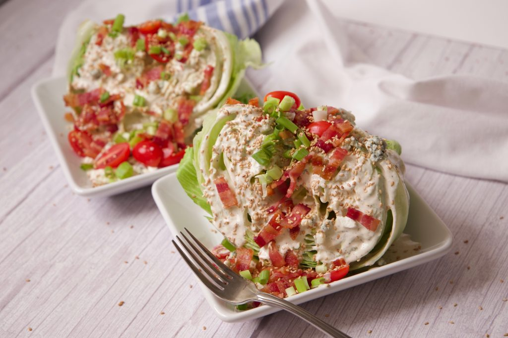 wedge salad ready to eat