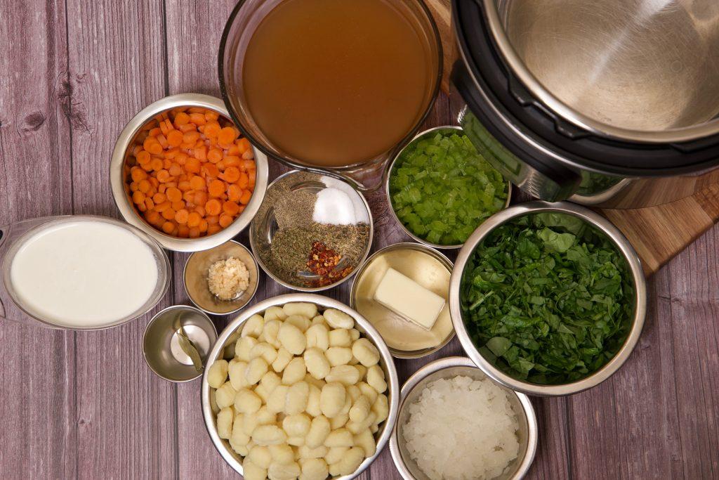 ingredients for instant pot gnocchi soup