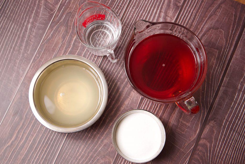 ingredients for cranberry slush drink