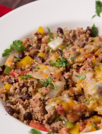 Mexican casserole ready to eat