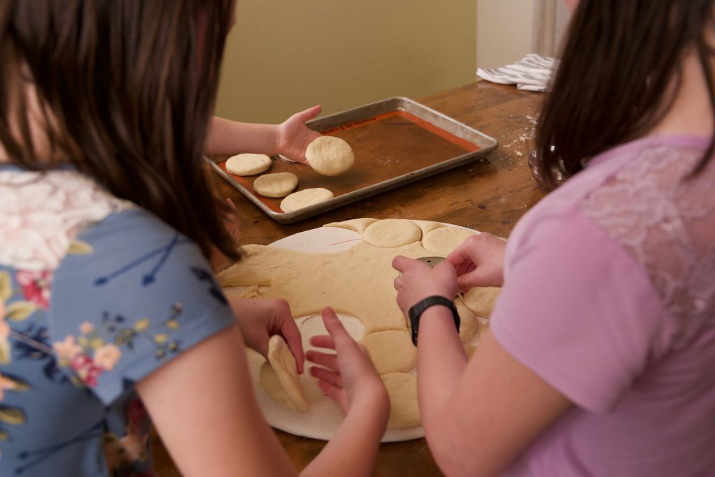 cutting out the kolaches