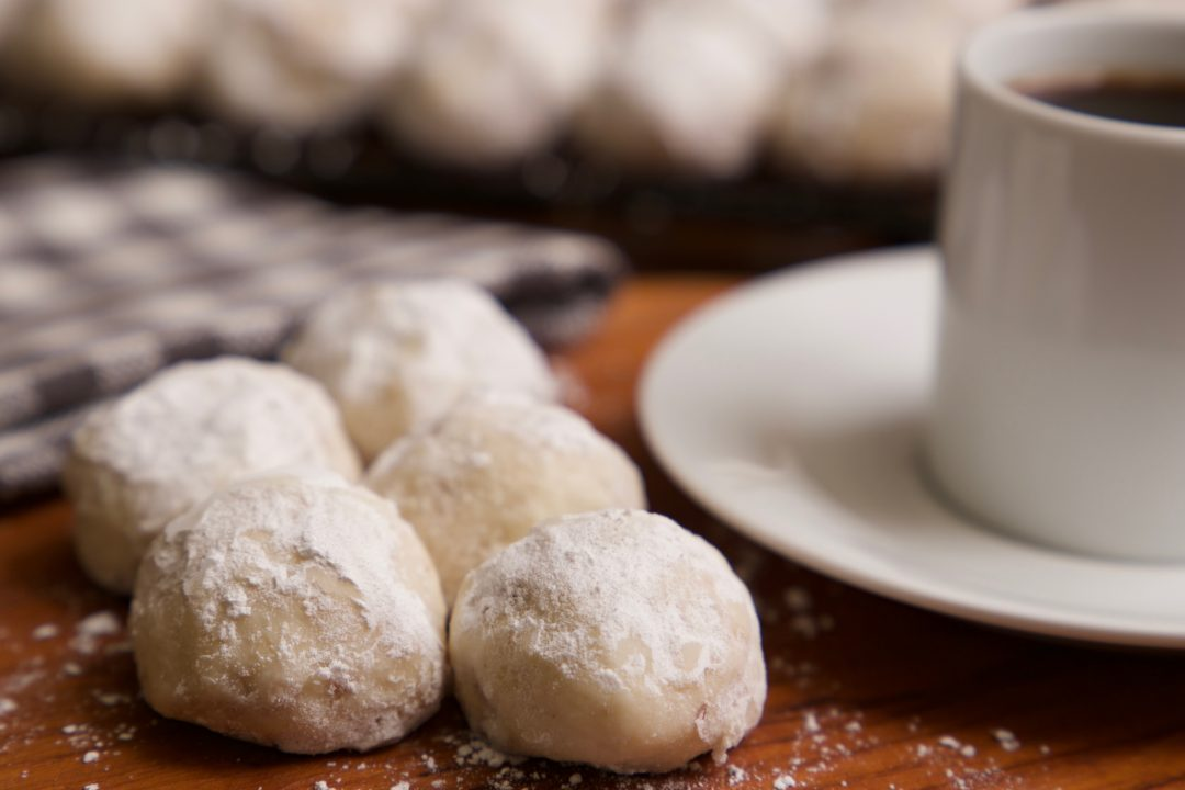 Russian Tea Cakes ready to eat